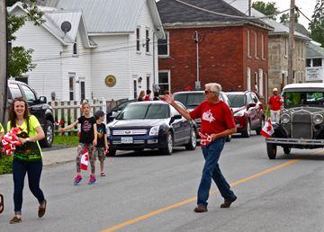 Mayor in parade